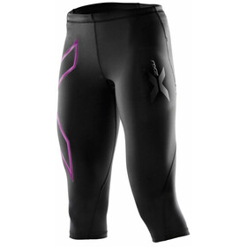 2XU W's Compression 3/4 Tights Black/Musk logo